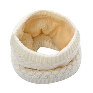 BZLine Femme Hiver Chaud Cache-Col Coton Écharpe Tube Foulard Couleur Unie  (Beige) 2151652317d