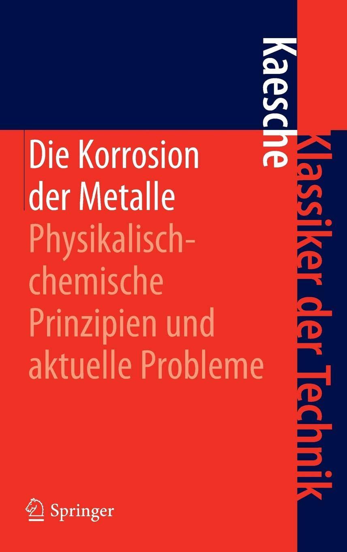 Die Korrosion Der Metalle  Physikalisch Chemische Prinzipien Und Aktuelle Probleme  Klassiker Der Technik