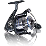 Fishing Reels Eocusun Smooth Baitcasting Spinning Fishing Reels with 5.5:1 Gear Ratio Metal Body Collapsible Handle12+1BB for Freshwater Saltwater Fishing (Blue)