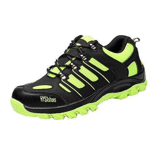 Zapatillas de Seguridad para Hombre Mujer Transpirables Calzado de Trabajo Ligeras con Punta de Acero S3