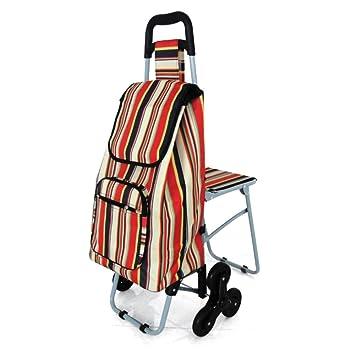 NRS Healthcare M78743 - Carrito de la compra con ruedas triples y asiento plegable: Amazon.es: Salud y cuidado personal
