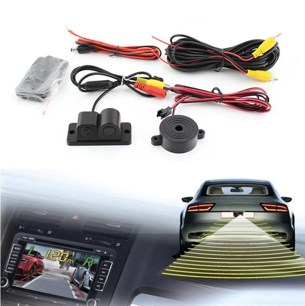 Dacawin Radar images up combo smart reversing Backup Car Camera (Black)