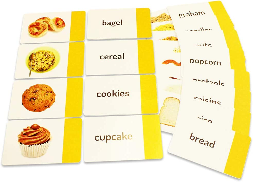 Stages Learning Grains & Snacks Sight Words Matching Cards by The Makers of Language Builder