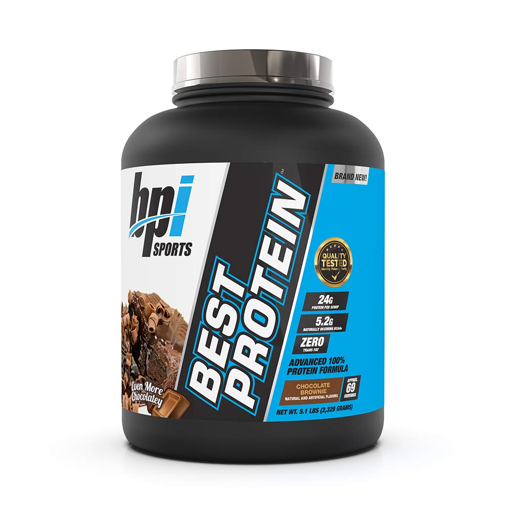 BPI Sports Best Protein Advanced 100% Whey Protein Formula, 24 Grams of Superior Whey Protein, Chocolate Brownie, 5.1 Pound by BPI Sports