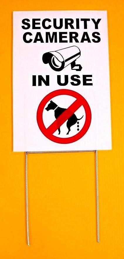 Amazon.com: Cartel de seguridad para cámaras en uso – sin ...