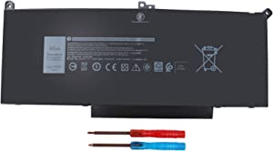 F3YGT 7480 DM3WC Laptop Battery for Dell Latitude 7480 7390 7280 7290 7380 7490 E7280 E7480 E7490 12 7000 13 7000 14 7000 Series P73G P73G001 P73G002 P29S002 DM6WC 2X39G KG7VF 451-BBYE 453-BBCF 60WH
