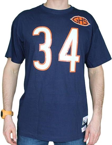 Mitchell /& Ness Walter Payton Chicago Bears Dark Navy Throwback Jersey