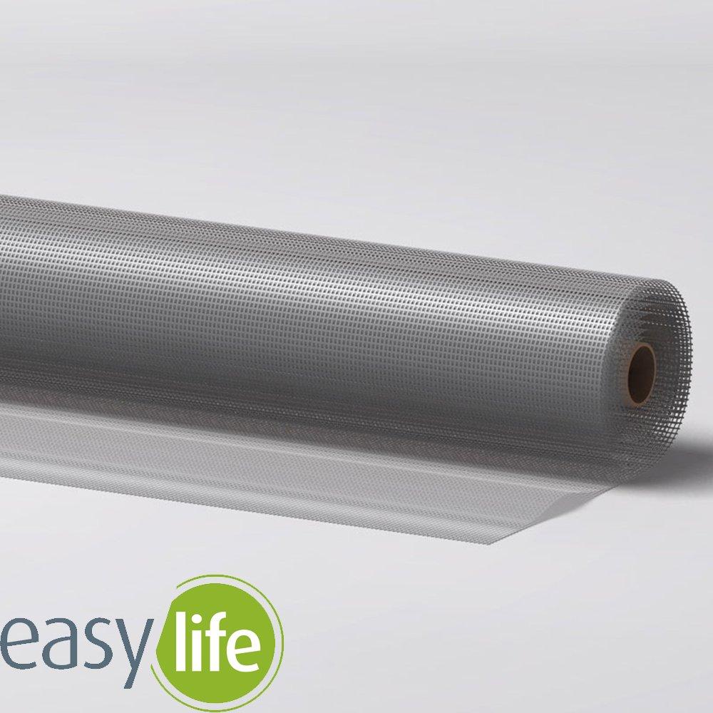 Easy life Rouleau tisssu moustiquaire en aluminium - Protection contre les insectes stable en aluminium durable et robuste tissu pouvant ê tre raccourci, Taille:120 x 100 cm