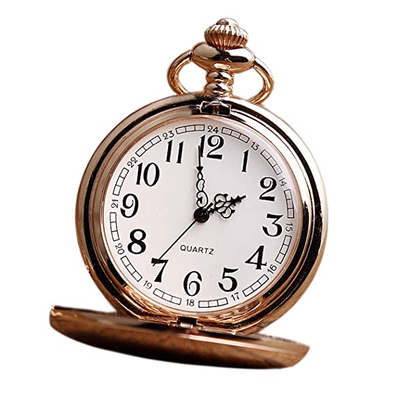Reloj de bolsillo, tallar números romanos reloj de bolsillo, escultura de cadena de cintura FOB Vintage reloj de bolsillo de cuarzo, diseño de regalo, ...