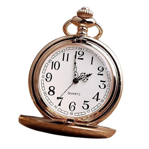 Reloj de bolsillo, tallar números romanos reloj de bolsillo, escultura de cadena de cintura