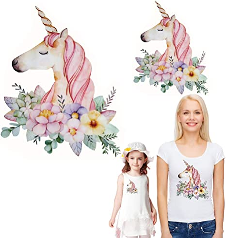 unicorns clothes patches heat transfers stickers diy printing iron on appliques