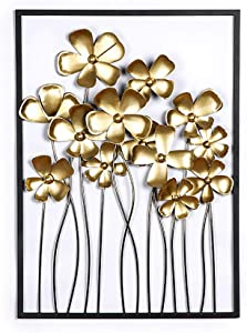 FEENGG Metal Wall Decor, Metal Leaf Wall Art, Interior and Outdoor Decoration, Wrought Iron Wall Decor, Living Room Home Decoration, for Study/Living Room/Bedroom