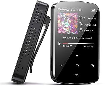 grabaciones Libro electr/ónico pod/ómetro Inteligente Calendario BENJIE 32GB Bluetooth Sport MP3 Player Mini mp3 con 128G HiFi port/átil sin p/érdidas Fotos