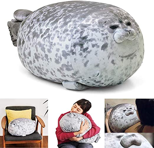 Plush Animal Toy Chubby Blob Seal Cute Ocean Pillow Pet Stuffed Doll Kids Gift