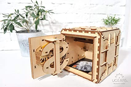 Ugears Mechanical 3d Safe Valentines Gifts Adult Puzzle Wooden Brain Teaser Kids And Teens Iq Game