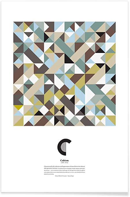 Juniqe Affiche 30x45cm Abstrait Géométrique Alphabet Et