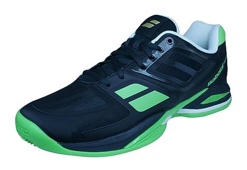 Babolat PTeam BPM Clay de los Hombres de Las Zapatillas de Deporte/Zapatos de tenis-Black-43