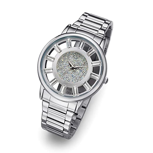 Oliver Weber Reloj Reims plata Cristales de Swarovski: Amazon.es: Relojes
