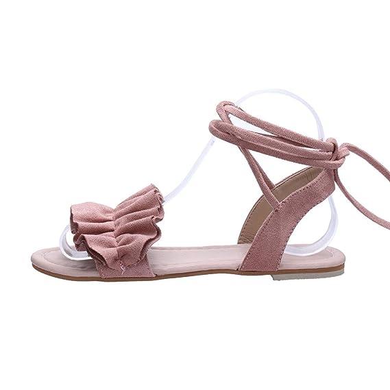 Sommer Sandalen Damen FORH Frauen Einfarbig Sandalen Mode