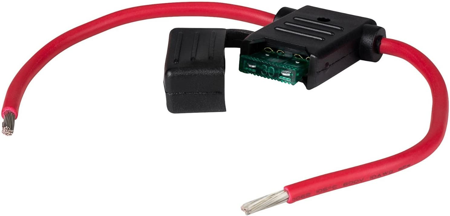 WirthCo 31820 Battery Doctor in-Line Water-Resistant ATO//ATC Blade Fuse Holder with Cover 12 AWG