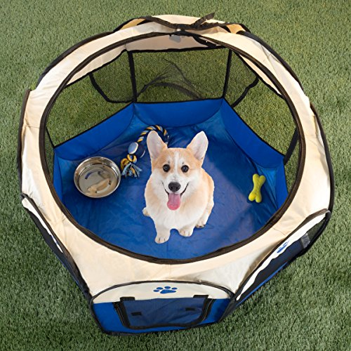 PETMAKER Pop-up Pet Playpen with Carrying Case for Indoor/Ou