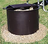Leisure Craft LCIFG23-ADA Flip Grate Fire Ring, Black