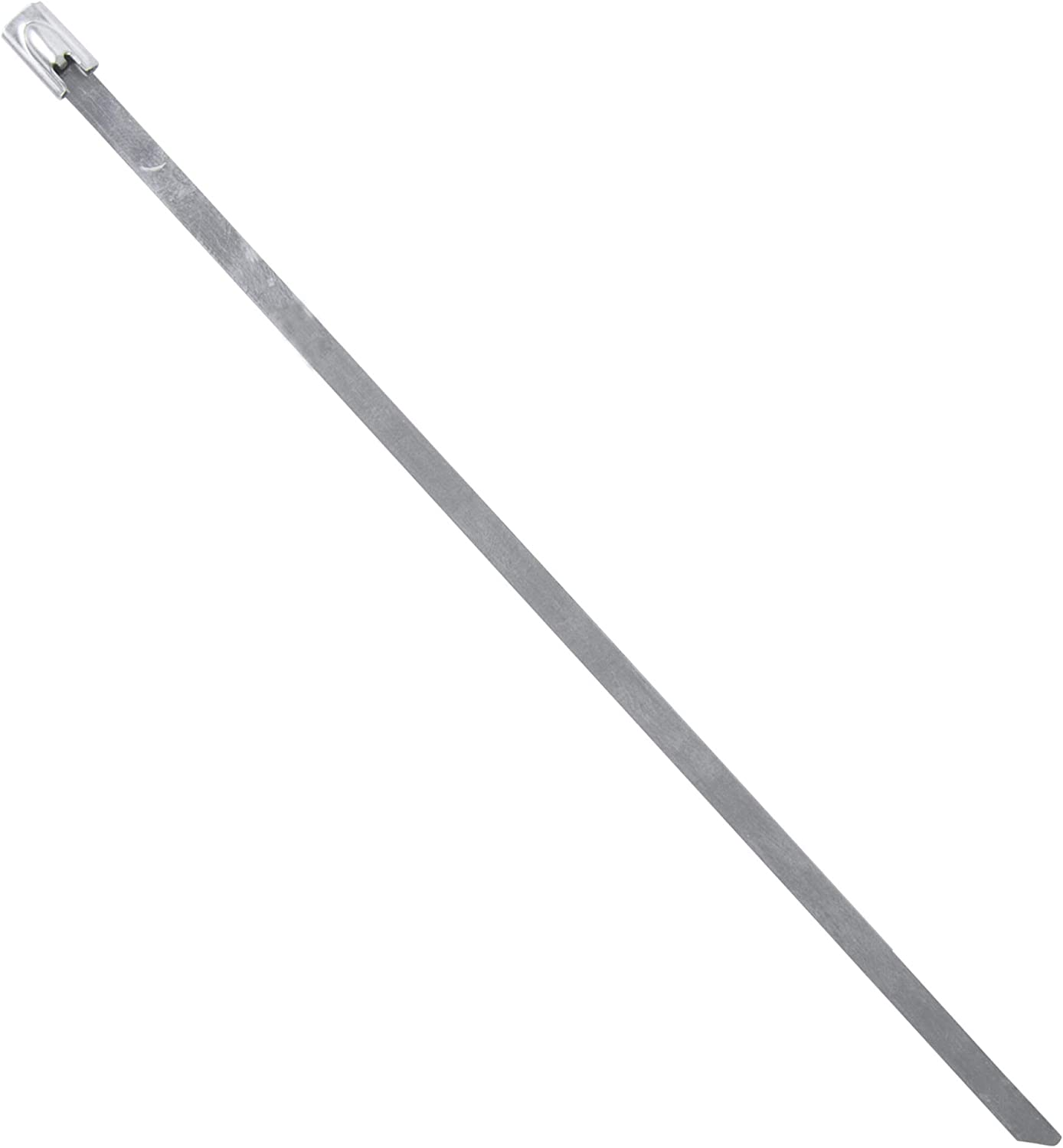 Gardner Bender 45-306SS Stainless Steel Cable Tie, 6 Inch., 100 lb. Tensile Strength, Wire / Cord Management Industrial and Household Use, Metal Zip Tie, 10 Pk.