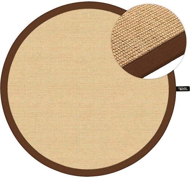 Benuta Sisal Teppich Mit Bordure Durchmesser 160 Cm Rund Jute Braun 160 X 160 X 2 Cm Amazon De Kuche Haushalt
