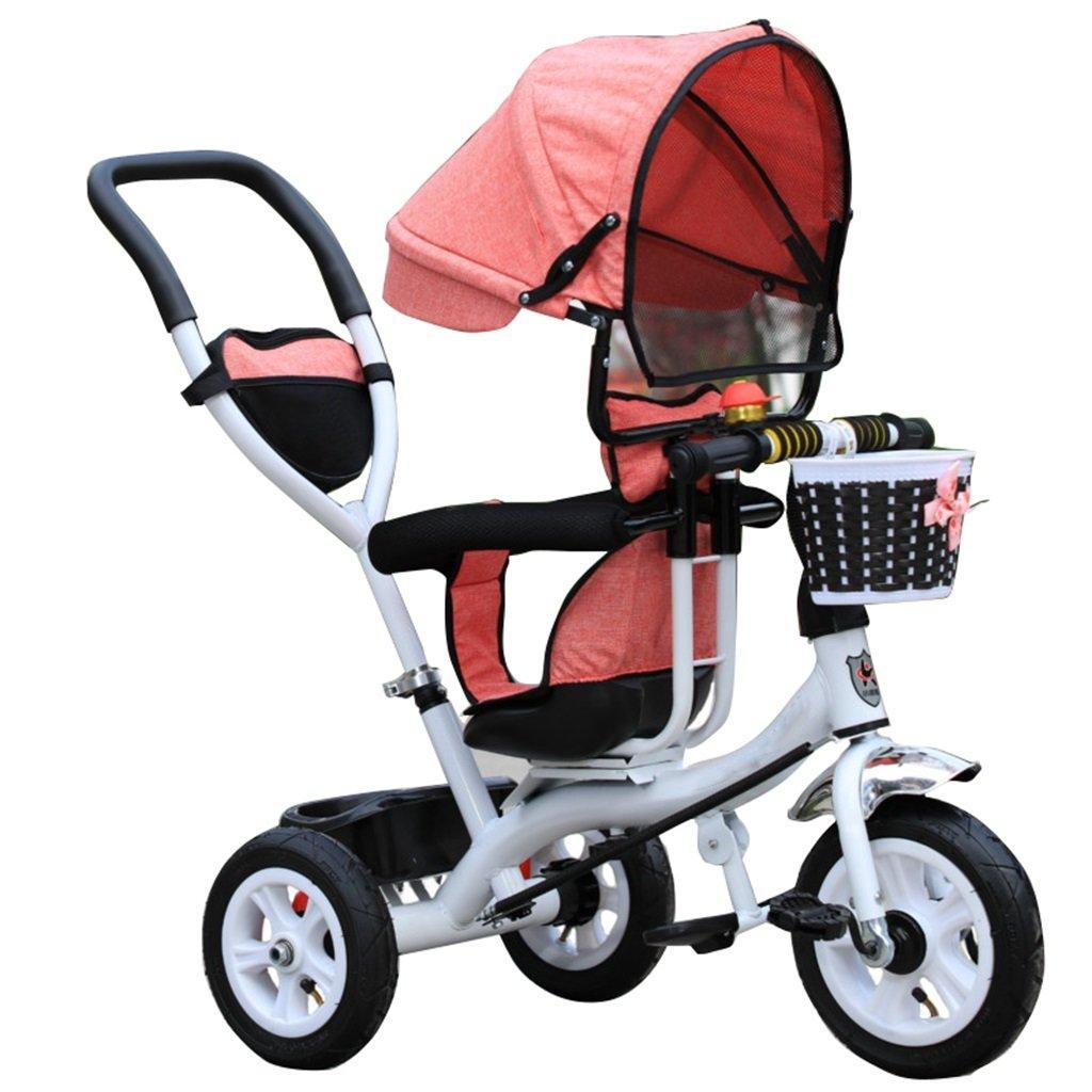 KANGR-子ども用自転車 三輪車のベビーキャリッジバイク子供のおもちゃのトロリーインフレータブルホイール自転車3ホイール、回転可能な座席(ボーイ/ガール、1-3-5歳) B07CDDGFJ1