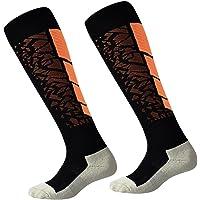 Luwint Men & Women Long Non Slip Socks - Breathable Cotton Non Skid Socks for Sports Running Soccer Yoga, 1 Pair