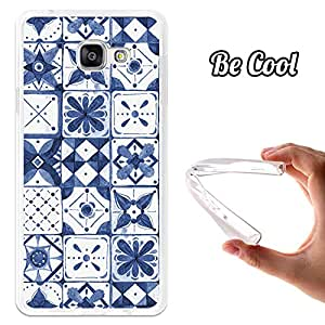 BeCool® - Funda Gel Flexible Samsung Galaxy A7 2016 Azulejos Andaluces Azules Carcasa Case Silicona TPU Suave