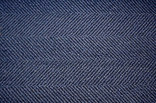 Blue Herringbone Upholstery Jumper Indigo with Crypton Valdese Fabric