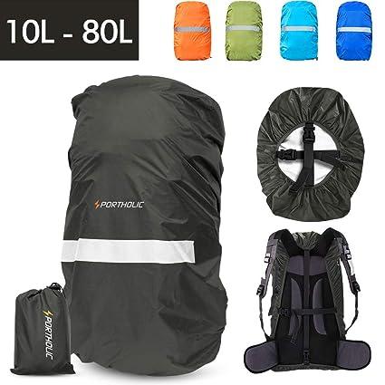 7e4dacece7ab Amazon.com   PORTHOLIC Waterproof Backpack Rain Cover  10-25L ...