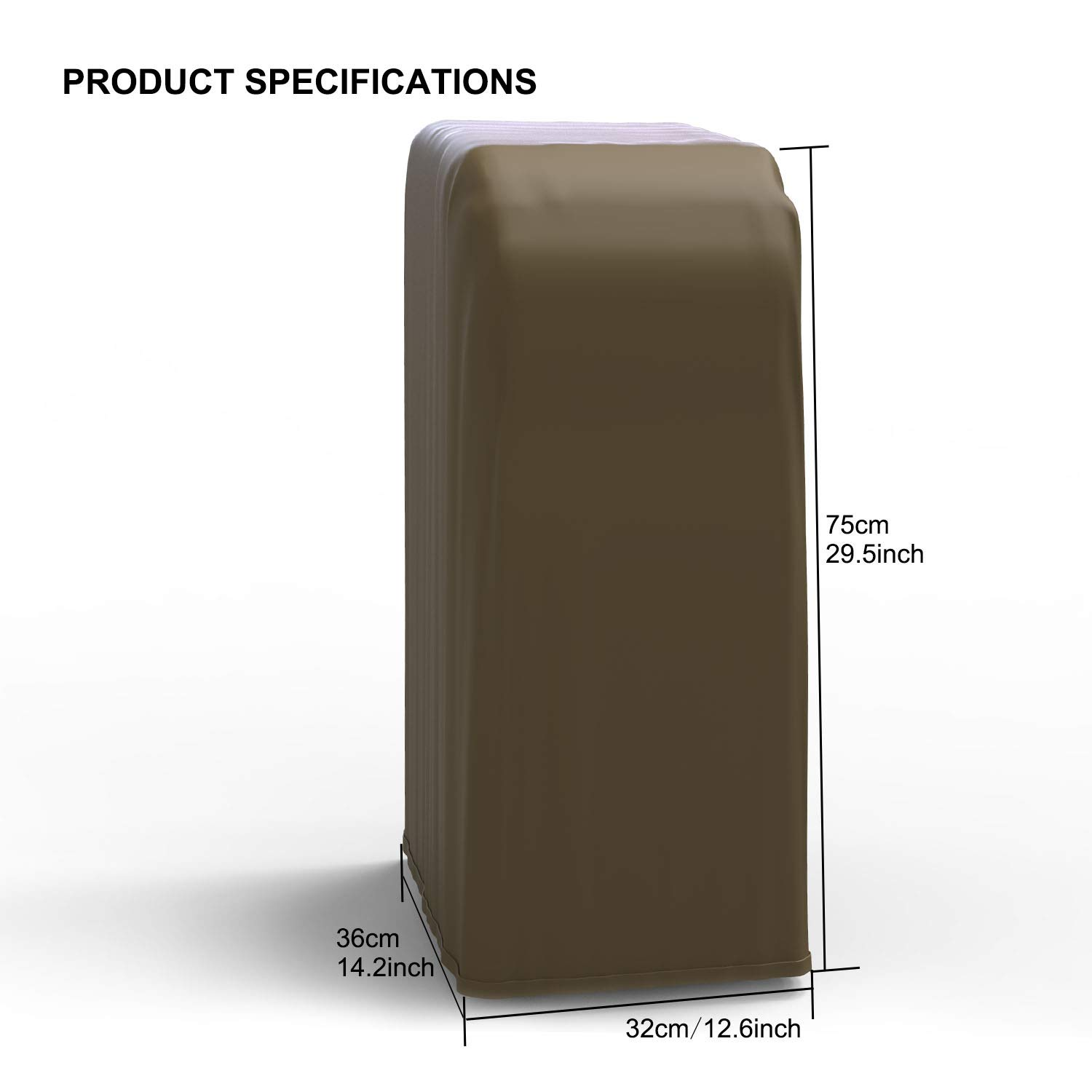 Durable Waterproof Dust Proof Fabric Covers with Telescopic Rope Rhodesy Universal Portable Air Conditioner Cover Furniture Cover Protector 14 * 12.5 * 29.5 inches 36 * 32 * 75cm