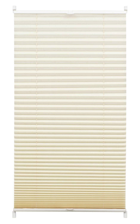 Gardinia Store Plissé à clipser, Opaque, Kit de montage inclus, Store plissé à 2 rails EASYFIX, Blanc, 50 x 130 cm (LxH) Store plissé à 2 rails EASYFIX 33040