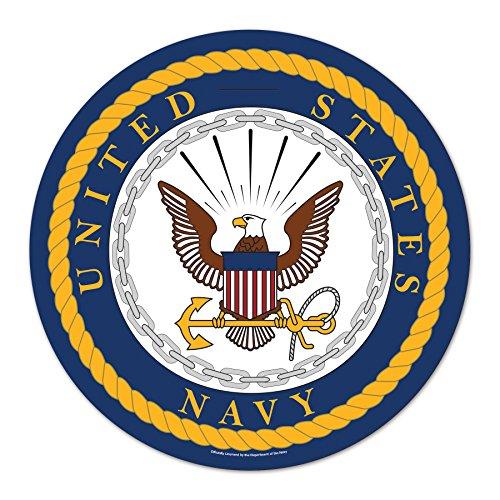 WinCraft United States Military U.S. Navy Round Wood Signu.S. Navy Round Wood Sign, Numerous, One Size by WinCraft