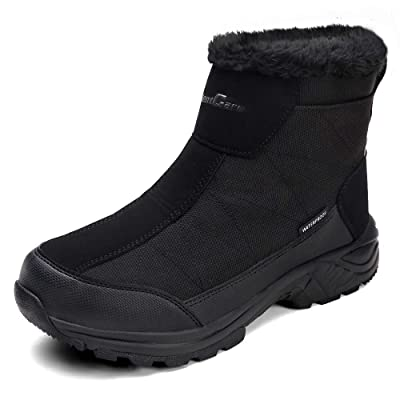 SILENTCARE Mens Winter Snow Boots Waterproof Fur Lined Booties Non-Slip Lightweight Winter Shoes | Snow Boots