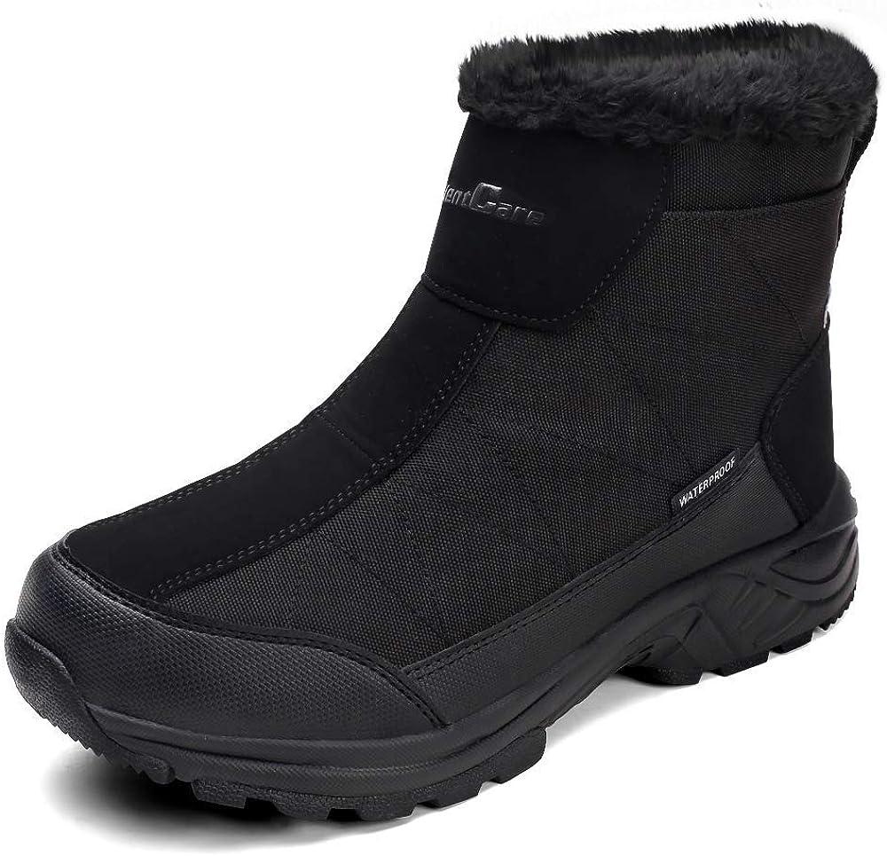 SILENTCARE Mens Winter Snow Boots