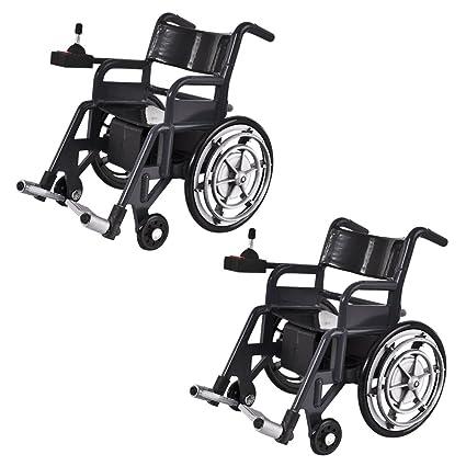 Amazon.com: Juego de 2 sillas de ruedas de juguete de ...