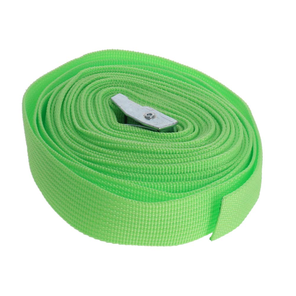 MroMax 4Pcs Premium Lashing Straps with Strong Cam Buckle 2.5cm x 4M Length Tie Down Strap for Carriers Moving Canoes Roof Racks Great Accessory Ratchet Battery Strap Marine Green
