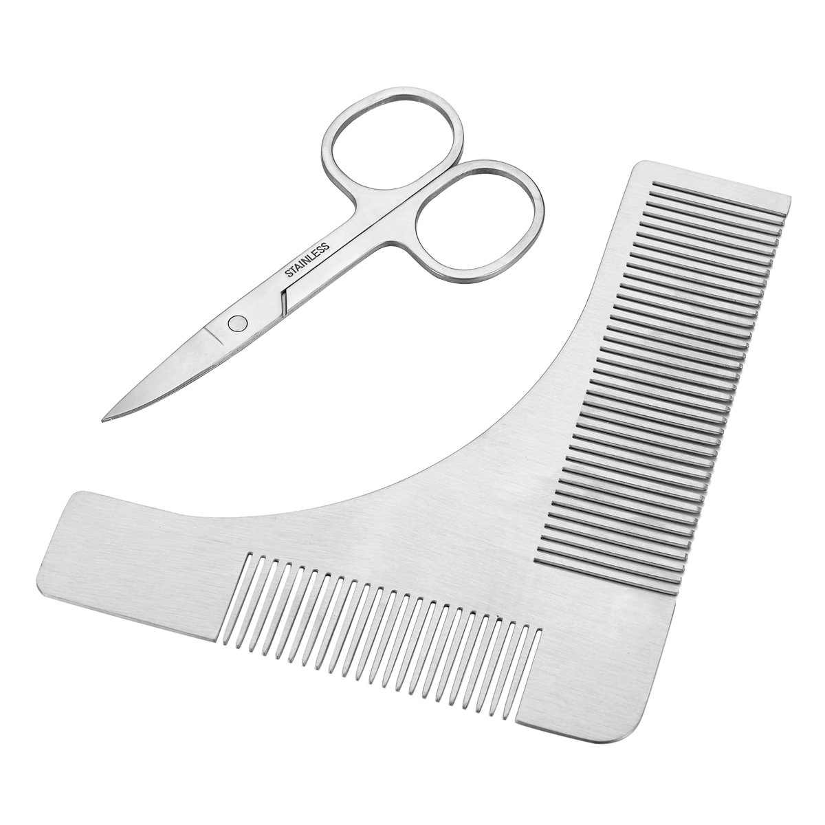 HOUSWEETY Multi-function Beard Shaping Tool Styling Template Comb Facial Hair Trimmer for Men HOUSWEETYB111587