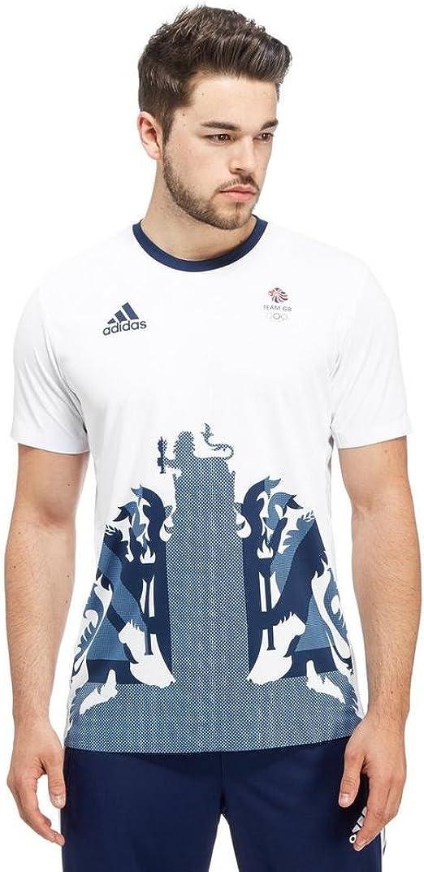 comprare popolare doppio coupon miglior posto per Amazon.com: adidas Team GB 2016 Climachill Men's T-Shirt, White ...