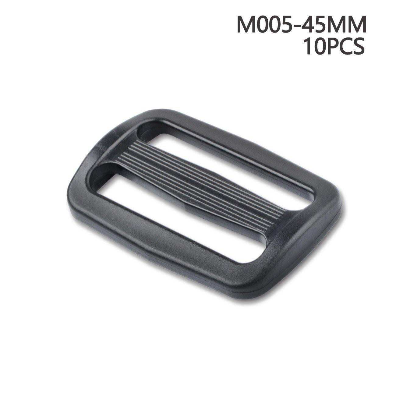 Passanti in plastica per cinghie zaini e borse, 45 mm