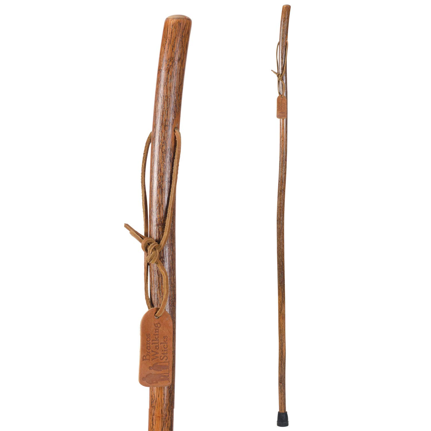 Brazos Free Form Hickory Walking Stick Trekking Pole, Made in the USA