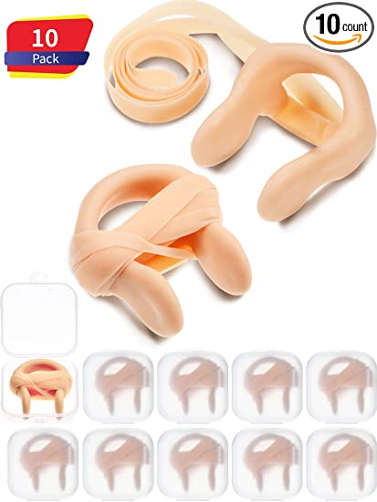 3aab8355427 Nose Clip Silica Gel Swimming Nose Plug Swimming Accessories with Elastic  String for Kids and Adults
