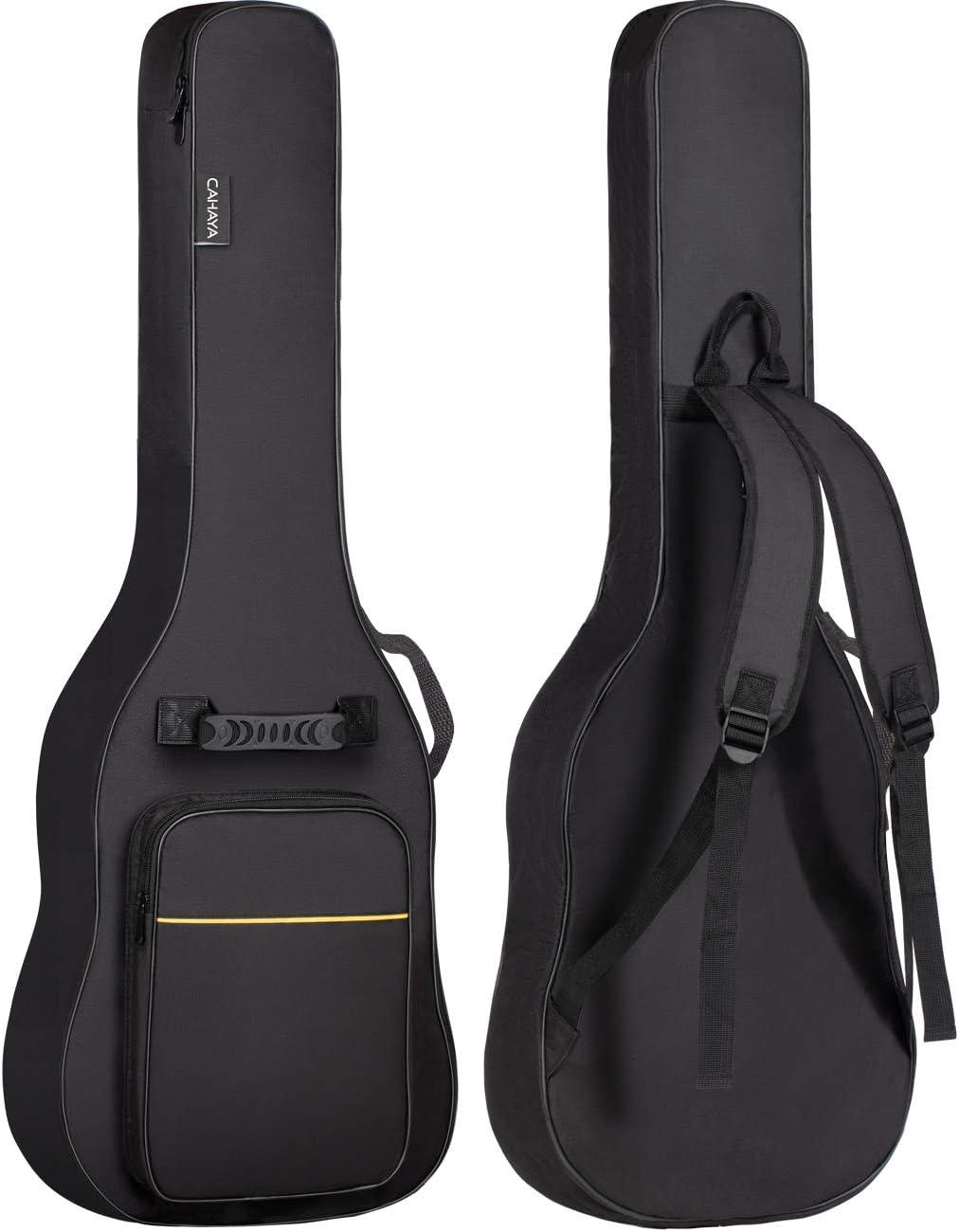 CAHAYA Bolsa Guitarra Electrica Acolchada de 6mm para Guitarra Electrica con Un Bolsillo Frontal para Libros de Música