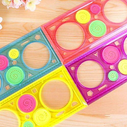Teabelle Stencil Righello Cartoleria Scuola Motivi Geometrici Spiral Art Classic Toy Giocattolo