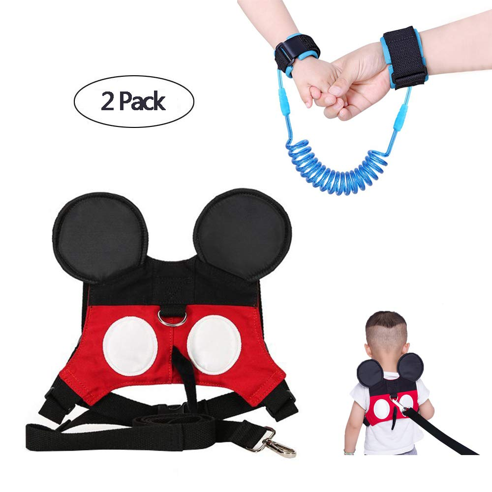 Baby Walking Safety Belt is Suitable for Boys or Girls Aged (1-3 Years) at The Zoo, Disneyland or Shopping Center. (Red Baby) Feixiao Technology Co. Ltd.
