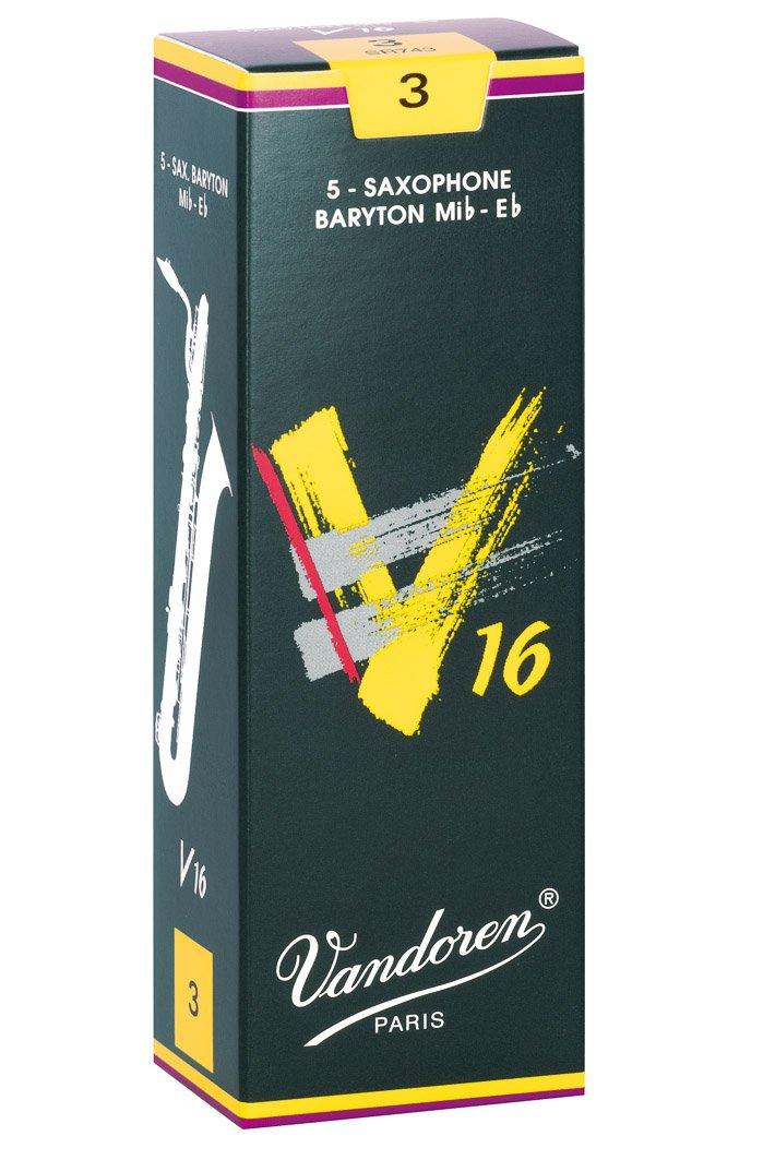 Vandoren SR743 Baritone Sax V16 Strength 3, Box of 5 Reeds