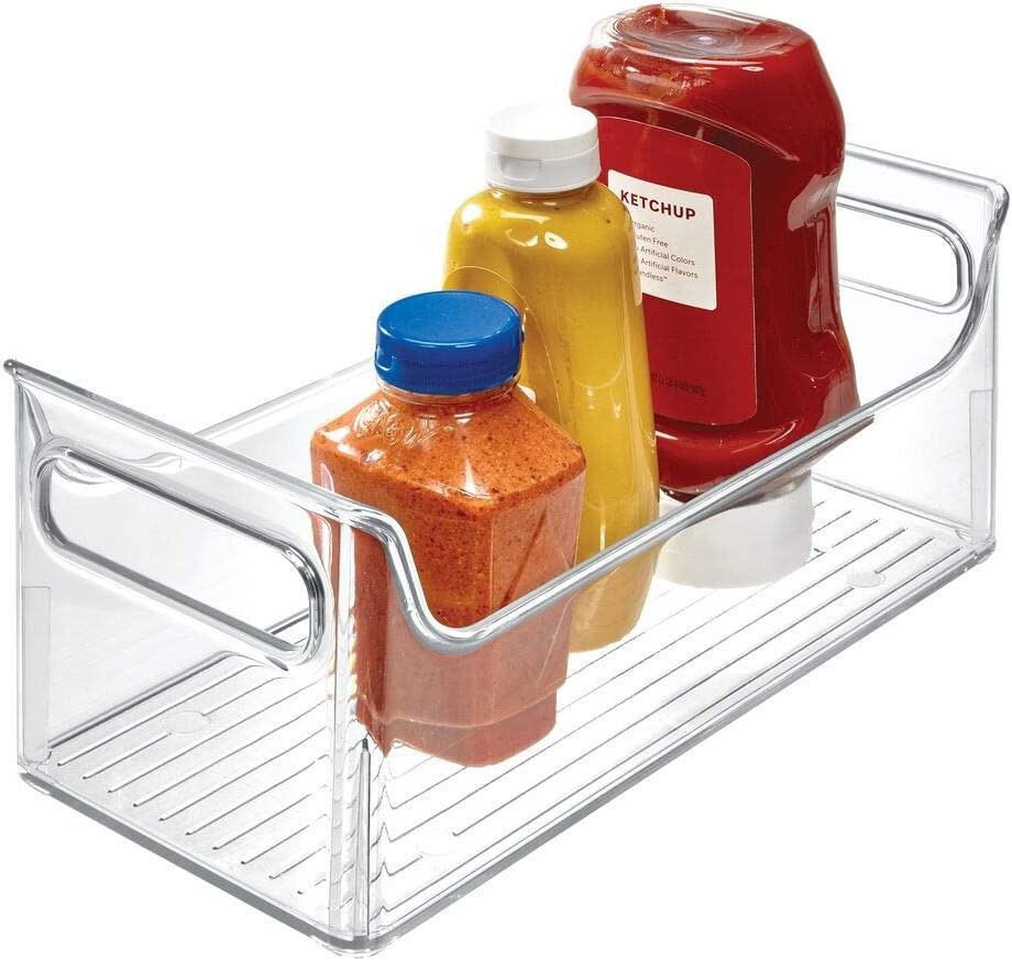 Amazon Com Idesign 72530 Fridge Plastic Storage Organizer Bin With Handles Clear Container For Food Drinks Produce Pantry Organization Bpa Free 5 5 X 11 25 X 5 Clear Home Kitchen